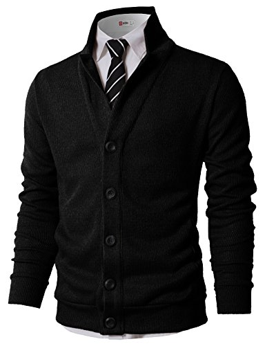 (H2H Mens Jacket Fashion Casual Contrast Black Slim Fit Collarless Blazer Coat Outwear Black US L/Asia XL (KMOCAL0182))