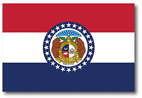 (Missouri Car Magnet US State Flag Refrigerator Locker SUV Heavy Duty Waterproof)