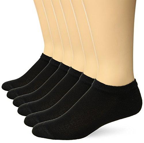 Hanes Ultimate Men's 6-Pack X-Temp No-Show Socks, black, 10-13