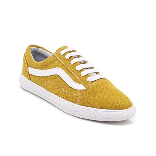 ZHZNVX Comfort Heel amp; de Summer Zapatos Suede Sneakers White Spring Pink Flat Mujer Black Yellow ZXqrn0ZUv