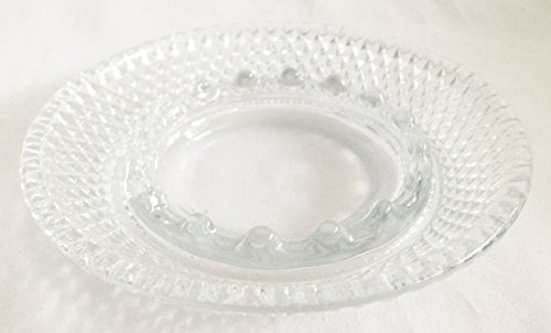 Vintage Fostoria Glass Clear Stratton 4 7/8 Heavy Lead Crystal Ashtray (Discontinued 1982)