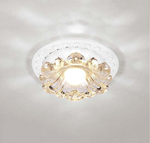 GAOLIQIN Modern Simple Living Room LED Ceiling Light Creative Crystal Spotlight Hallway Entrance Round Downlight Balcony Light 3W,5W,110240V,144cm (White Light, Warm Light)