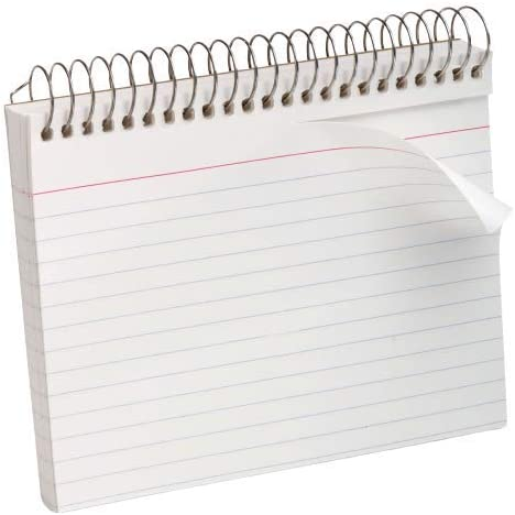 White 3 Packs 1InTheOffice Spiral Bound Index Cards 4x6 Ruled 50 Cards//Pack