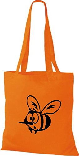 Bolso Algodón Naranja De Para Tela Shirtstown Mujer A7qBxOOw