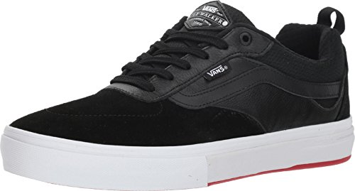Vans Men's Kyle Walker Pro Skate Shoe (8 M US Women / 6.5 M US Men, Black Red)
