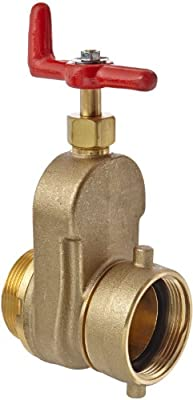 """Moon 734-2521 Brass Hose Gate Valve, Non-Rising Stem, 2-1/2"""" FNST x MNST by Moon American"""