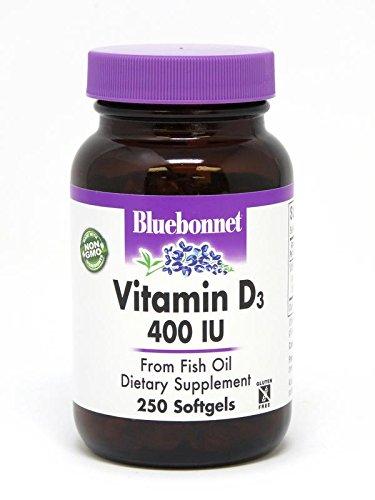 - Bluebonnet Vitamin D3 400IU 250 Softgels