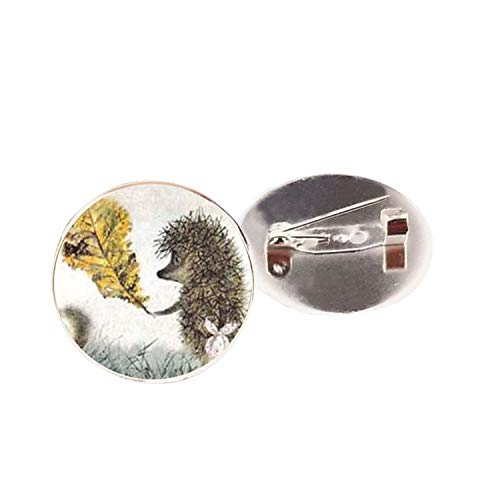 Best-u-store Vintage Hedgehog Brooch Special Animal Pins Vintage Jewelry Brooches Bronze Antique Plated Collar Pin for Women Gift,Silver2 -