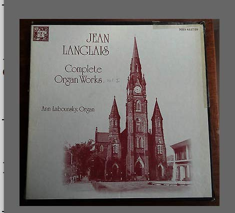 Jean Langlais Complete Organ Works Labounsky Box LP Set