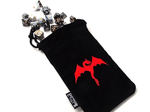 Microfiber Wyvern Dice Bag 5x8 Inch Deluxe Double Stitched Seam