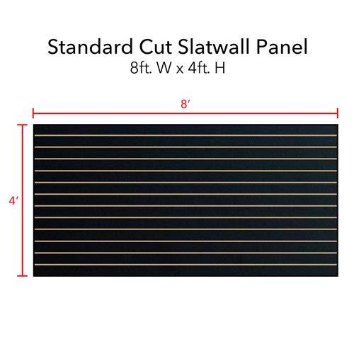 Horizontal Slatwall Panels with Black Finish in 4 Feet H x 8 Feet W by Slatwall Panel (Image #2)