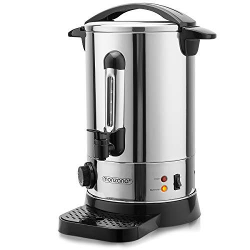 Monzana Hervidor dispensador bebidas calientes termo de 8,8L 950W termostato bandeja para las gotas acero inoxidable