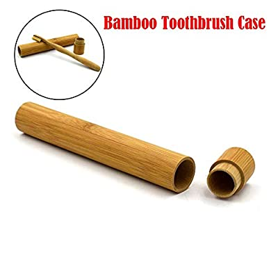 Best Quality - Storage Boxes & Bins Toothbrushes Storage Boxes Portable Natural Bamboo Toothbrush Case Tube For Travel Eco Friendly Hand Made - by Tini - 1 PCs