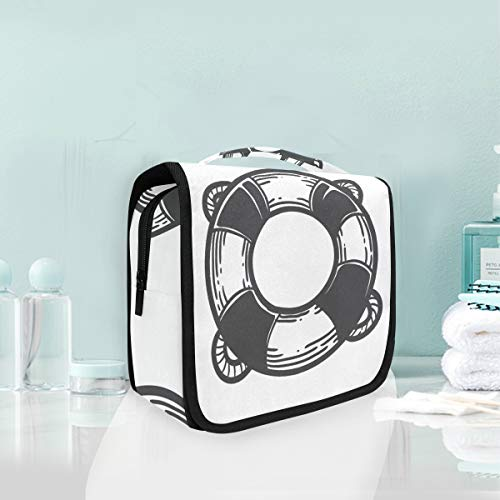 MONTOJ Life Buoy Wash Gargle Bag Cosmetic Bag Travel Makeup Bag Artist Organizer Portable Storage Bag