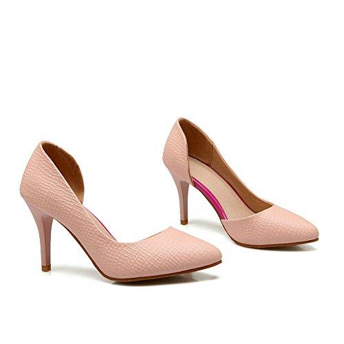 Balamasa Dames Spikes Stilettos Puntige Teen Pull-on Urethaan Pumps-schoenen Roze