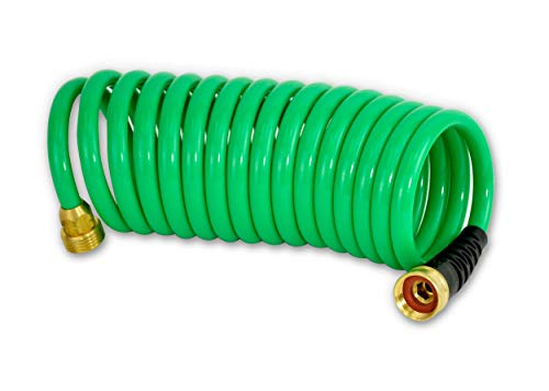 HoseCoil 3/8 inch Self Coiling Garden, RV, Outdoor Water Hose (15.00, Green)