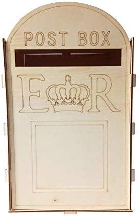 SUPVOX ウェディングポストボックス木製素朴なメールボックスギフトカードホルダーオーナメントウェディングパーティー用品(キー付き)