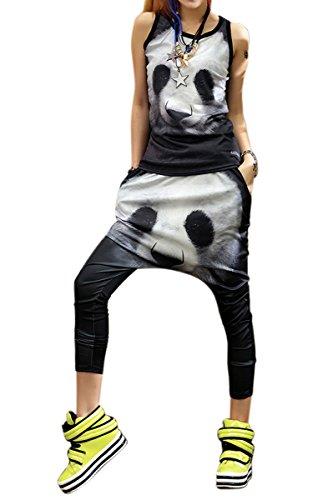 Pantalones Señoras La Ellazhu Gk78 Una De Harén Panda Las Dulces Impreso Multicoloured 7Zn41qA