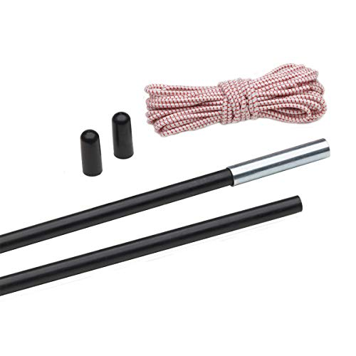 Eureka! 8.5-Millimeter Fiberglass Shock Cord Pole Repair and Replacement Kit for Tents and Shelters, Four 25-1/2-Inch Pole Sections