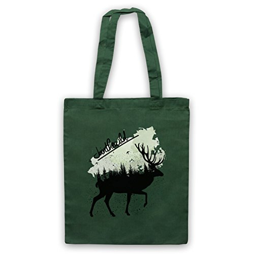 Join The Wild Deer Bolso Verde Oscuro