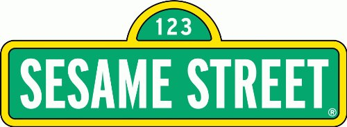 "Sesame Street Sign Cartoon Car Bumber Sticker Decal 8"" X 3"""