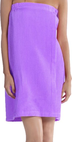 robesale Personalized Waffle Wraps For Women, Lightweight Cover Ups, LAVENDER ()