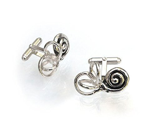BALANCE Anatomical Inner Ear (cochlea and semi-circular canals) Cufflinks in Sterling Silver by Bioperspective Art and Jewelry