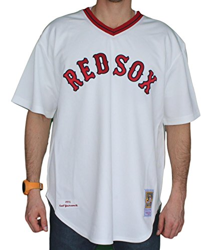 - Mitchell & Ness Carl Yastrzemski Boston Red Sox Authentic 1975 Jersey - 2XL/52
