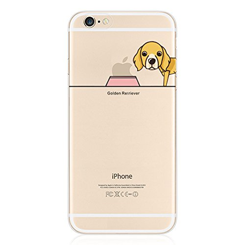 iPhone 8 Handyhülle Schutzhülle Hülle Silikon Cover Case Ultra Dünn Slim Backcover TPU transparent Golden Retriever 5DVKFaco