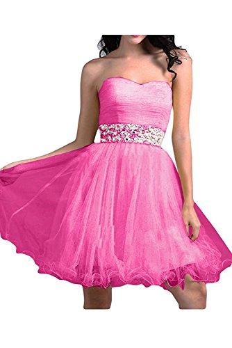 Ballkleider Braut Abendkleider mia Mini Linie Cocktailkleider La Pink A Rock Partykleider Wassermelon Elegant Traegerlos 0FnwYq