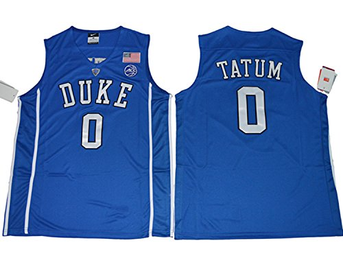 2017 Duke Blue Devils Jayson Tatum 0 College Basketball Mens Jersey Blue L
