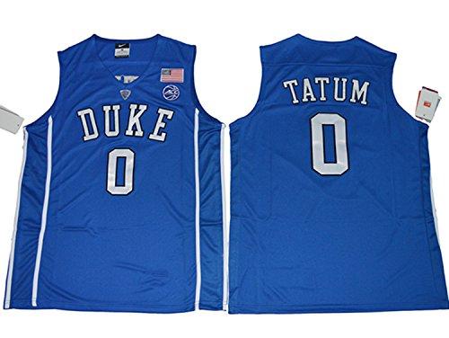 2017 Duke Blue Devils Jayson Tatum 0 College Basketball Mens Jersey Blue M