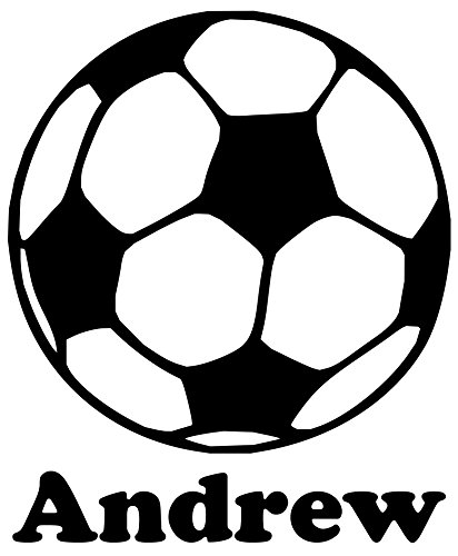 Minglewood Trading Soccer Ball Vinyl Decal Sticker with Custom Personalized Name 6