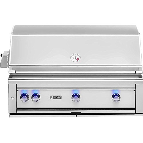 Lynx L42PSR-2-NG Built-In Natural Gas Grill with Pro Sear Burner and Rotisserie, 42-Inch Electrical Distributing Inc (L&G In-network)