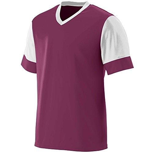 Custom V-neck Jersey Soccer (Augusta Sportswear Men's Lightning Jersey 3XL Maroon/White)