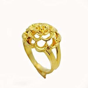خاتم من النحاس المطلي بالذهب ويزن 4 جرام