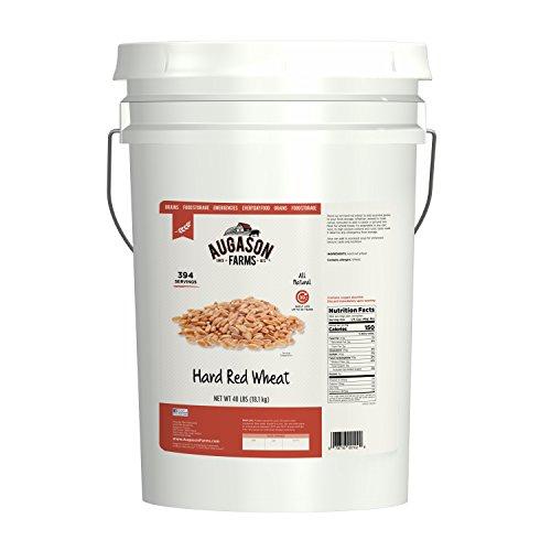 Augason Farms Hard Red Wheat Emergency Food Storage 40 Pound Pail