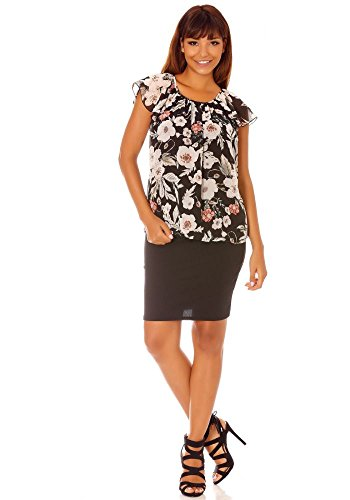 dmarkevous - Camiseta de manga larga - para mujer negro