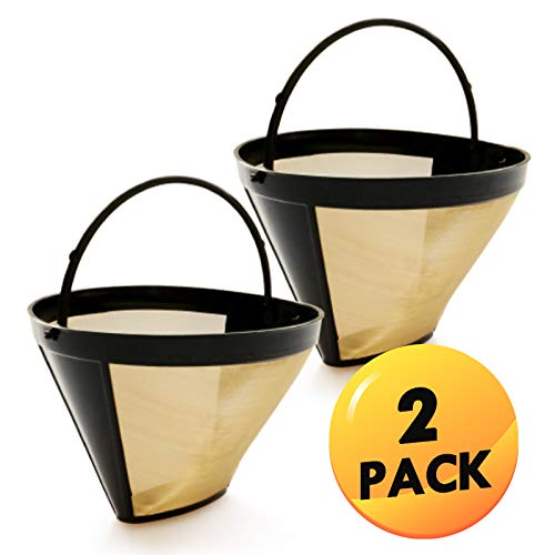 2 Pack Compatible with all Cuisinart 10,12 and 14-cup cone filter coffeemakers Filter Permanent ...
