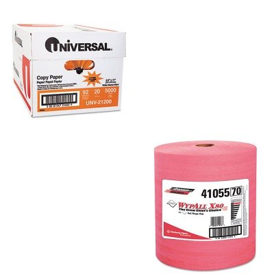 KITKIM41055UNV21200 - Value Kit - KIMBERLY CLARK WYPALL X80 Wipers (KIM41055) and Universal Copy Paper (UNV21200)