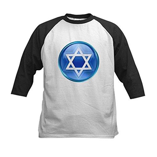 Royal Lion Kids Baseball Jersey Blue Star of David Jewish - Black/White, Small (6-8) ()