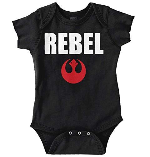 Rebel Star Force Nerd Sci-Fi Retro Gift Romper Bodysuit Black -