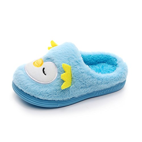 - Toddler Girls Boys Slipper Shoes For Kids Warm Winter Bedroom Indoor House Slipper(13 M US Little Kid,Penguin Without Elastic Band)
