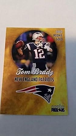 2000 Rookie Phenoms Tom Brady Rookie Gold Card Patriots Rc