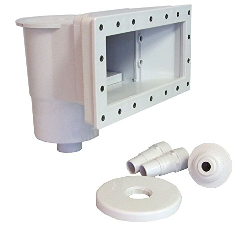 Skimmer Wide Mouth - Swimming Pool Complete Thru-Wall Wide Mouth Skimmer Kit