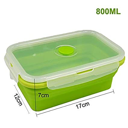 Amazon Com Folding Silicone Lunch Storage Container Kitchen