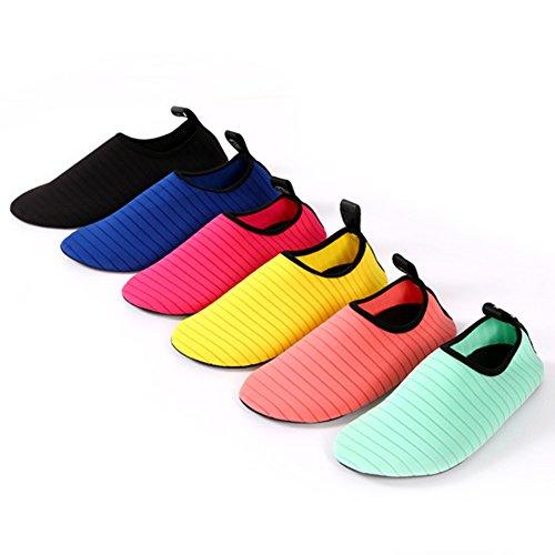 YiWa suave buceo agua zapatos comodidad Unisex antideslizante Fitness calcetines zapatos descalzo nadar agua para playa piscina Surf Buceo Yoga verde