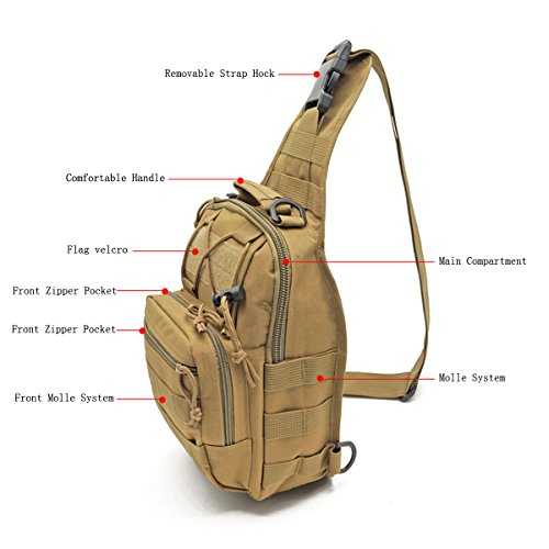 Molle sling pack large