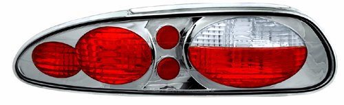 IPCW CWT-CE323CS Crystal Eyes Platinum Smoke Clear Eyes Tail Lamp - Pair - Chevrolet Camaro Tail Lights Crystal