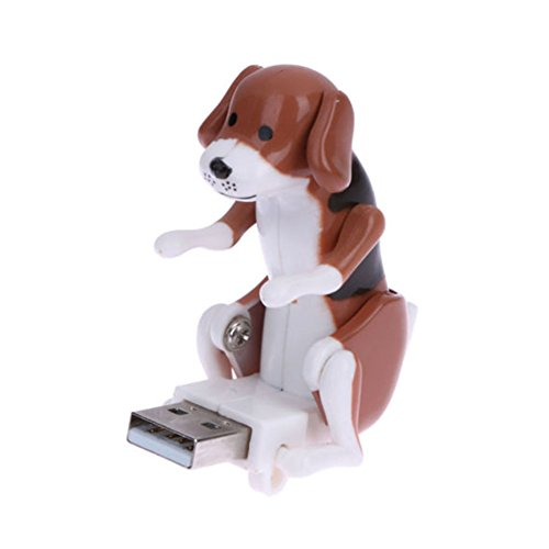 Unetox USB Hump Dog Funny Cute Humping Spot Dog Mini Portable Funny USB Pet Kids Toy Gift - Usb Dog Spot